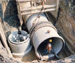 walking inside the pipe