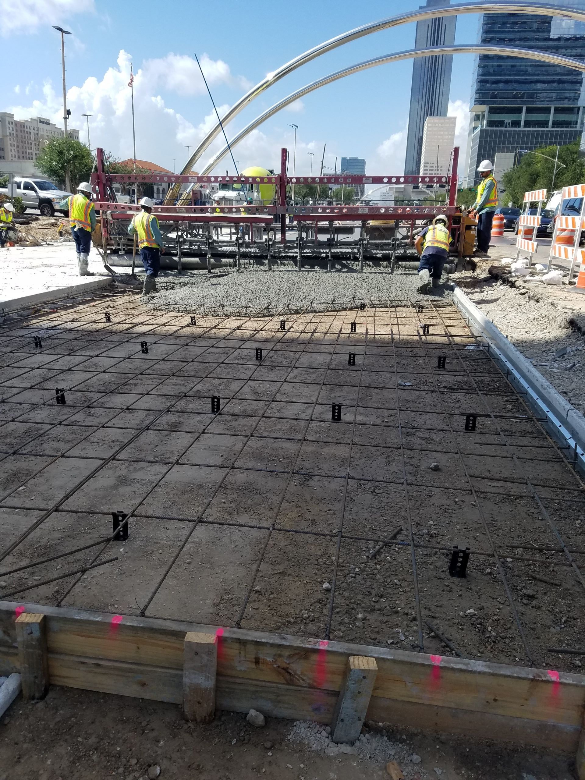 Post Oak Middle Segment Concrete Pour