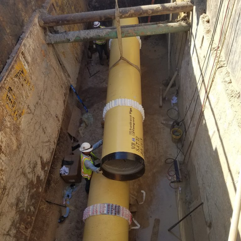 South west bore pit threading of pipe (3)